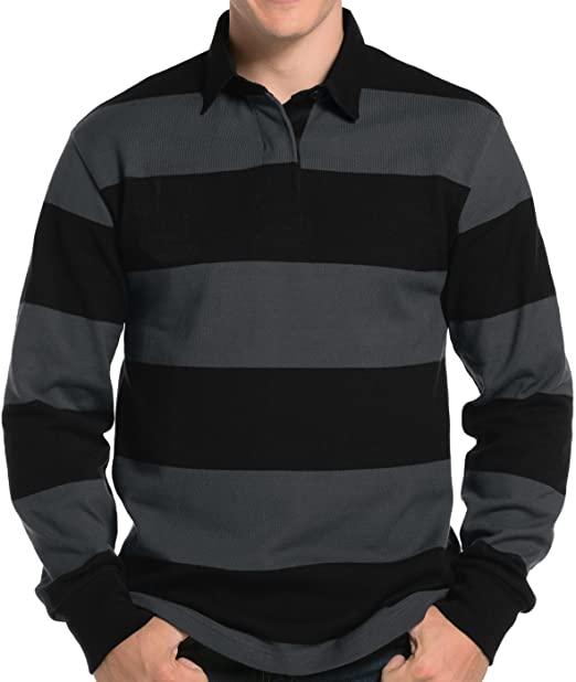 Amazon.com: Buy Cool Shirts Mens Long Sleeve Rugby Polo Shirt .
