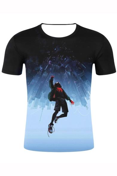 Cool 3D Figure Print Short Sleeve T-Shirt - Beautifulhalo.c