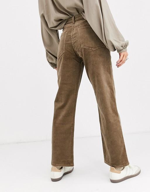 Weekday Row corduroy pants in mole gray | AS