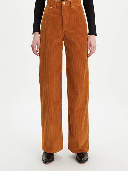 Ribcage Wide Leg Corduroy Pants - Brown | Levi's®