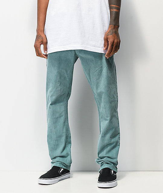 RVCA Daggers Green Pigment Corduroy Pants | Zumi