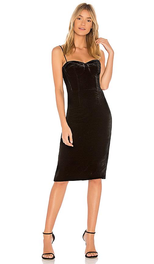 Theory Corset Velvet Dress in Black | REVOL