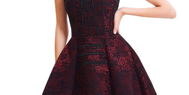 Gothic Floral Print Overbust Corset Dress | RebelsMark