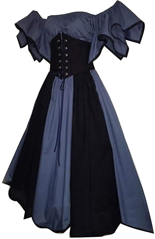 Amazon.com: smallwoodi Medieval Dress,Halloween Lady Retro .