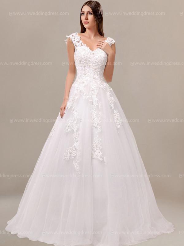 Princess Beaded Corset Wedding Dress $2