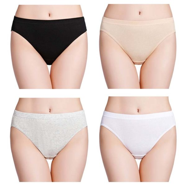 Womens High Cut 100% Cotton Underwear Panties – Wirar
