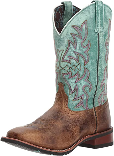 Amazon.com | Laredo Women's Anita Brown/Blue Cowgirl Boot Square .