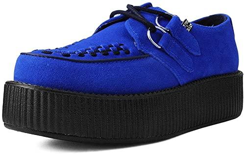 Amazon.com | T.U.K. Shoes V9546 Unisex-Adult Creepers, Blue Suede .