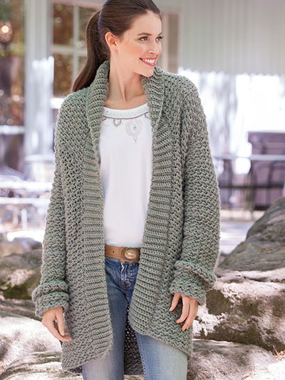 Weekend Casual Hooded Sweater Crochet Patte