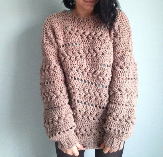 Crochet Sweater Pattern PDF - Sensum Sweater - cabled sweater .