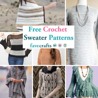 34 Free Crochet Sweater Patterns | FaveCrafts.c