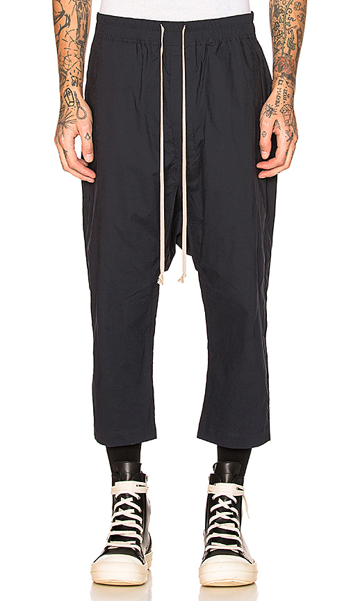 DRKSHDW by Rick Owens Drawstring Cropped Pants in Passport | REVOL