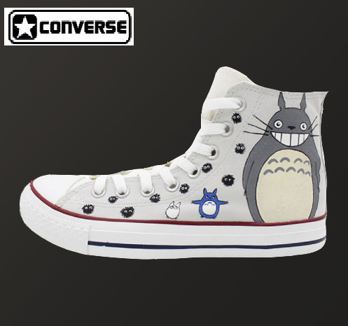 Totoro Shoes Custom Hand Painted Conver