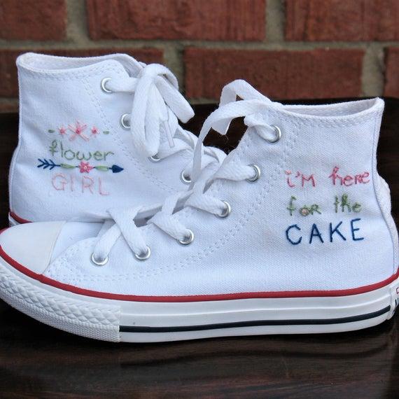 Flower girl shoes Custom Converse Wedding Converse Kid | Et