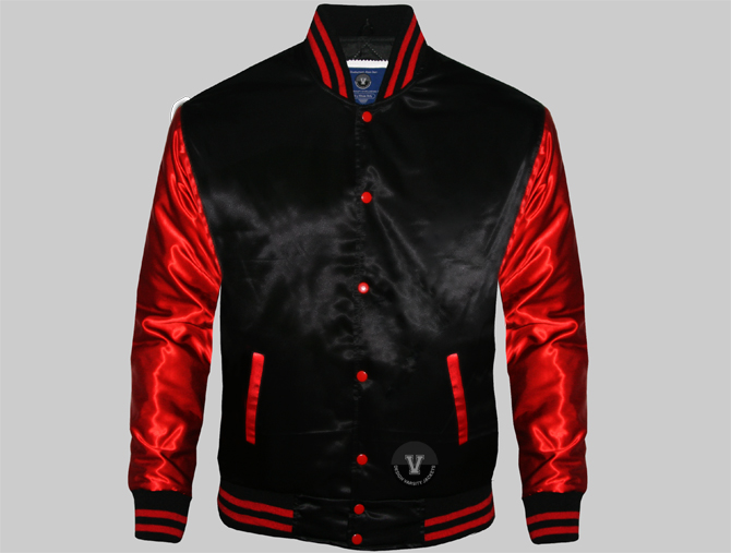 Satin Custom Varsity Jackets | Design Satin Jackets Onli