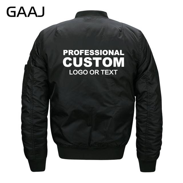 GAAJ Custom Jackets Men Print Fleece Jacket Army Streetwear .