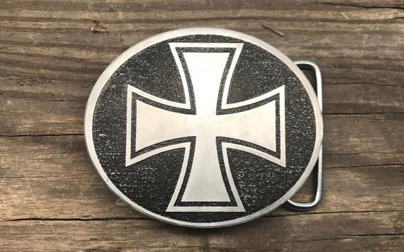 Iron Cross Belt Buckle Custom Made And Based Upon Knights | Et