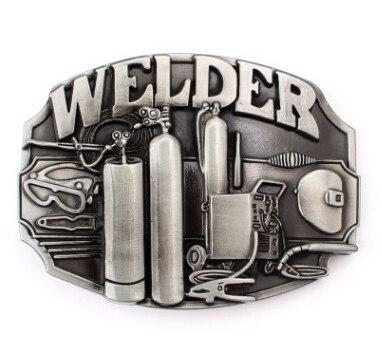 Custom made belt buckle welder metal Badge Punk rock style belts .