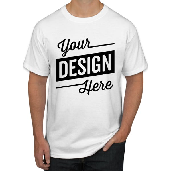 Design Custom Printed Hanes Tagless T-Shirts Online at CustomI