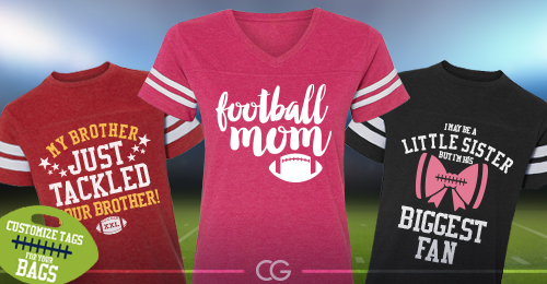 Custom Football Shirts and Hoodies For The Whole Family .