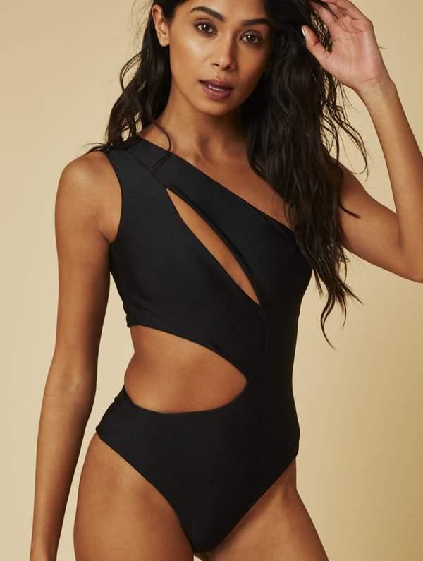 Monaco Cut Out Black Swimsuit   Swimwear & Bikinis   Skinnydip Lond