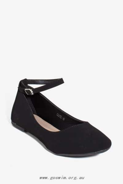Cute-16 Strap It To Me Flat Women's Flats - Black Flats 50987353 .