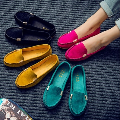 New Women's Ballet Flats Shoes Fashion Cute Slip On Low Heel .