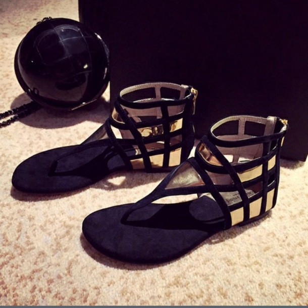 shoes, cute, summer outfits, sandals, black, flats, summer shoes .