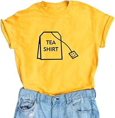Amazon.com: BLACKOO Women's Cute T Shirt Juniors Tee Graphic Tops .