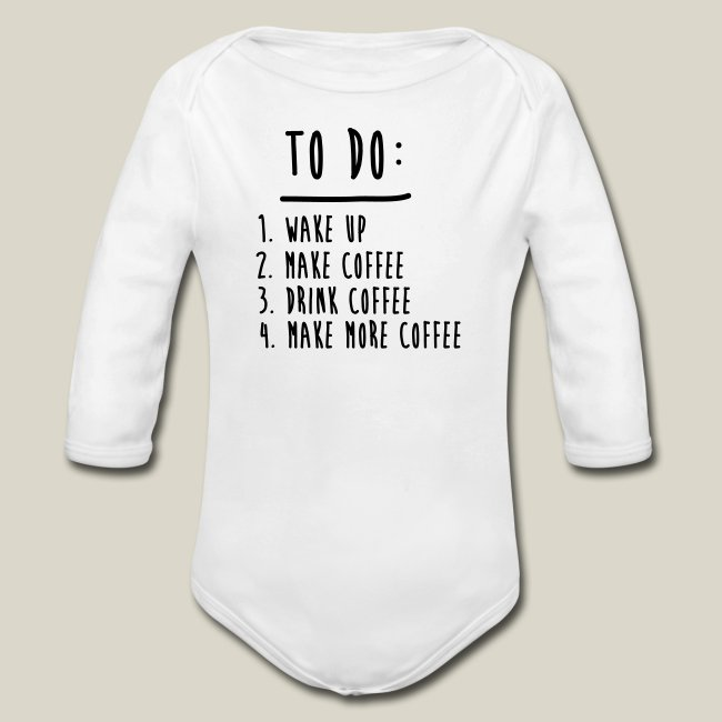 Coffee and Tee | Coffee To Do List Funny Cute Shirts - Organic .