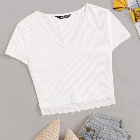 Tops | Cute Crop Top Tee Shirt | Poshma