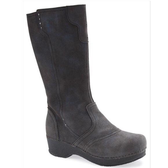 Dansko Shoes   Crepe Boot Steel Vintage Suede Knee High   Poshma