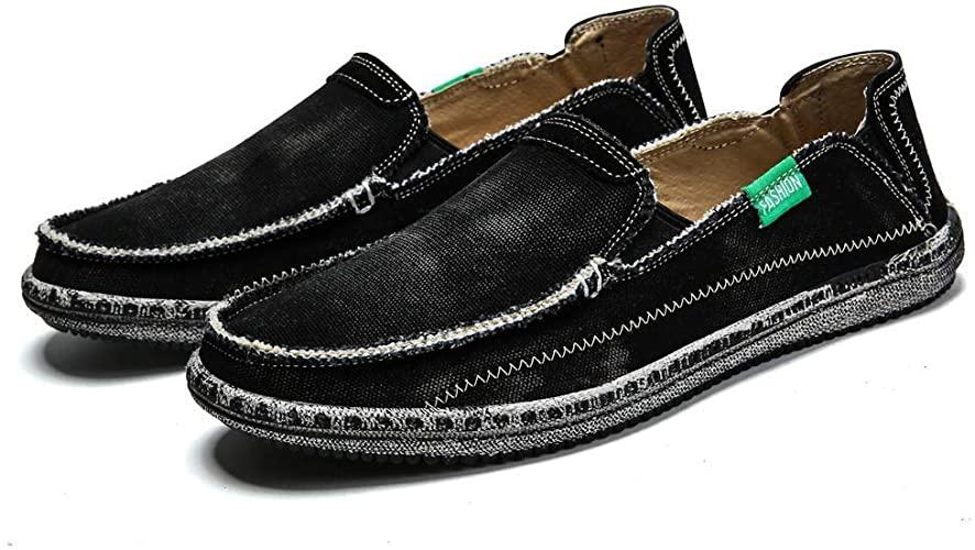 Amazon.com   Men's Slip on Deck Shoes Loafers Canvas Boat Shoe Non .