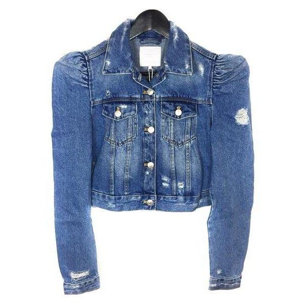 Zara Women's Denim jacket with puff sleeves 5252/016 ($45 .