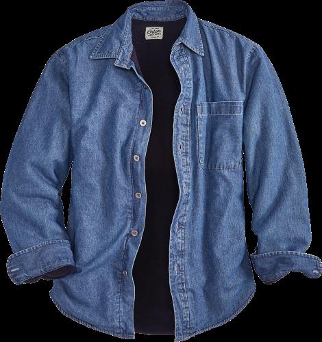 Men's Fleece Lined Denim Button Down Shirt | Orton Brothe