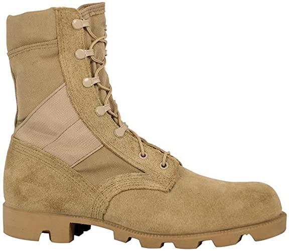 Amazon.com: McRae Mens Desert Tan Suede/Nylon Panama Military .