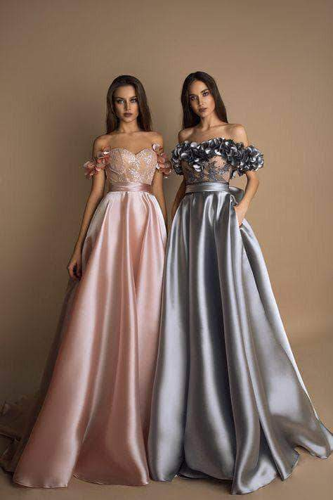 Designer Satin Silk wedding Gown – FashionVib