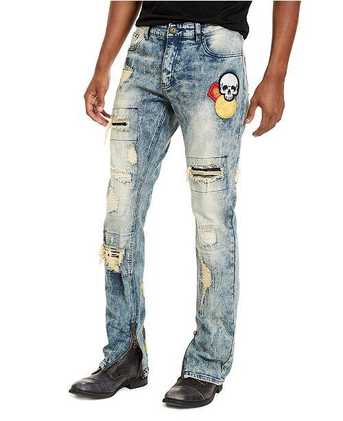 Reason Men's Slim-Fit Crazed Distressed Jeans & Reviews - Jeans .