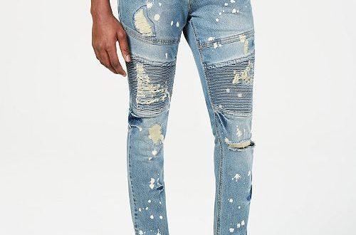 Heritage America Mens Slim-Fit Distressed Jeans & Reviews - Jeans .