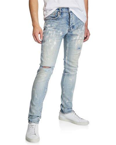 Blue Distressed Jeans | Neiman Marc