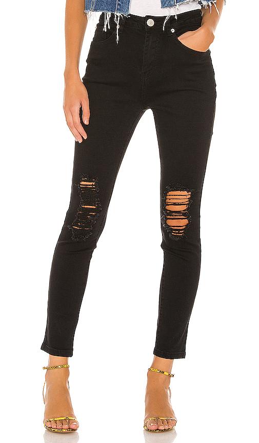 superdown Suza Distressed Jeans in Black | REVOL