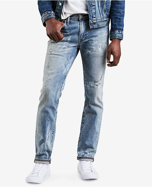Levi's Men's 511™ Slim-Fit Distressed Jeans & Reviews - Jeans .