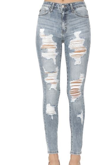 Kan Can Light Distressed Jeans – HH Desi