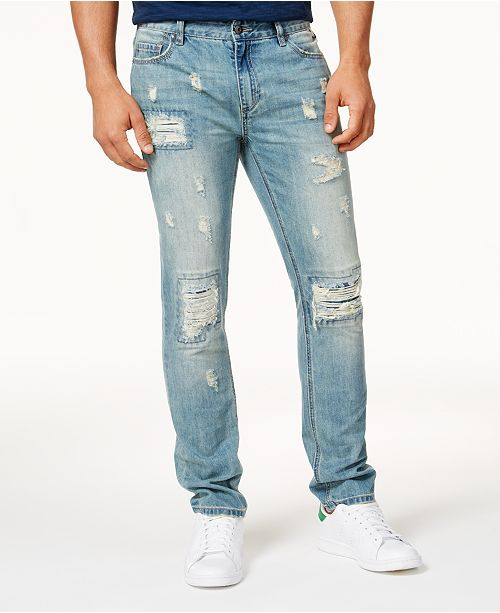 American Rag Men's Vintage Wash Distressed Jeans, Created for .