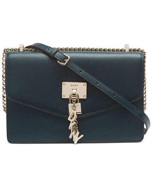 DKNY Elissa Leather Chain Strap Shoulder Bag, Created for Macy's .