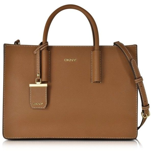 DKNY Handbags Bryant Park Tan Saffiano Leather Tote Bag ($360 .