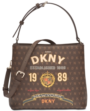 Dkny Small Signature Bucket Bag, Created for Macy's - Brown | Dkny .