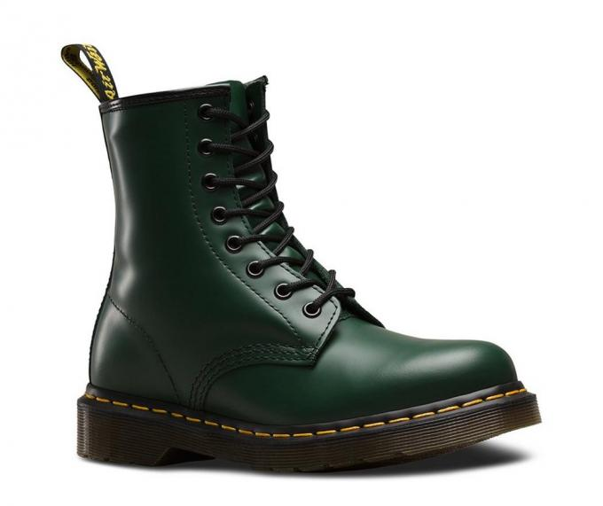 Dr. Martens Womens/Mens Boots | 1460 SMOOTH GREEN SMOOTH ~ SEO .