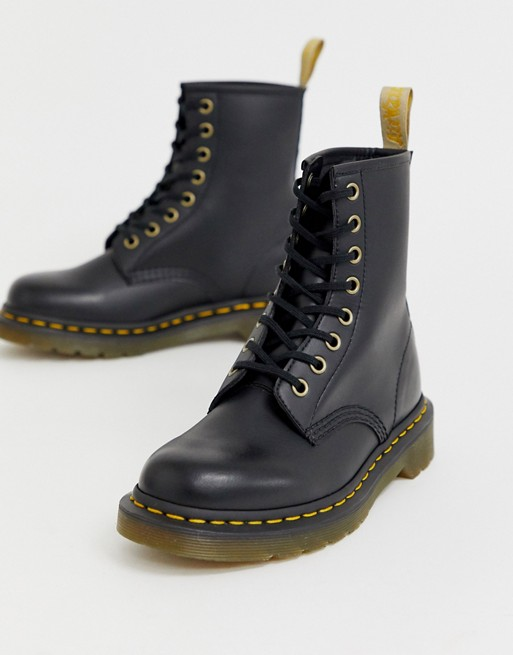 Dr Martens Vegan 1460 classic ankle boots in black | AS