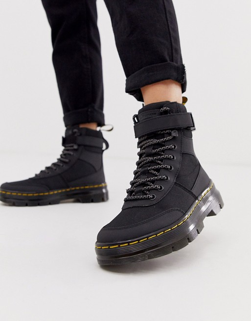 Dr Martens Combs Tech utility ankle boots in black | AS